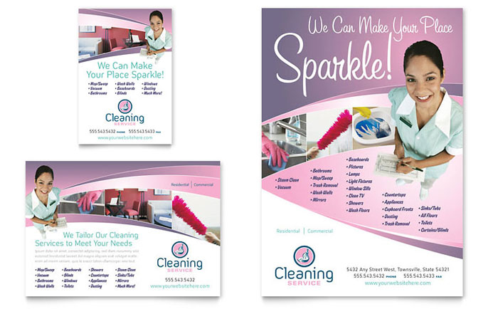 house cleaning services flyers