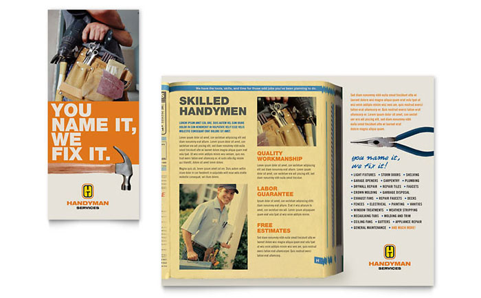 Home Repair Services Brochure Template - Word \ Publisher - services brochure
