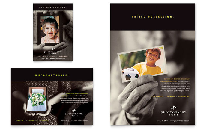 Photography Studio Flyer  Ad Template - Word  Publisher