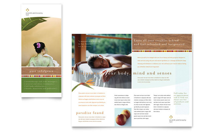 Health Beauty Spa Brochure Template Word Publisher