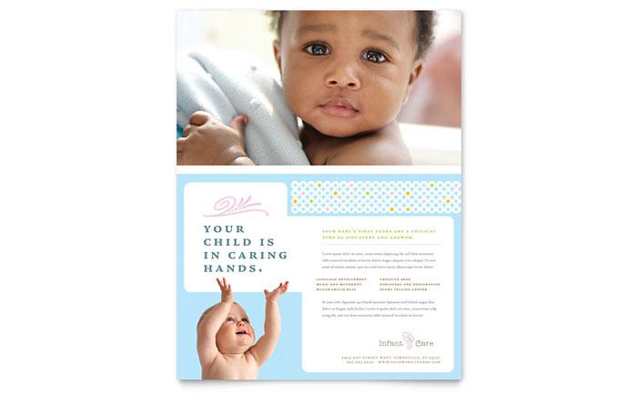 Infant Care  Babysitting Flyer Template - Word  Publisher