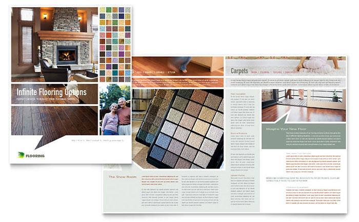 Carpet  Hardwood Flooring Brochure Template - Word  Publisher