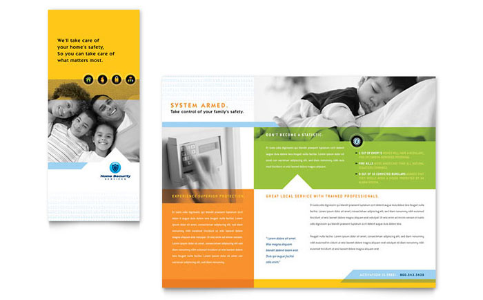Home Security Systems Brochure Template - Word  Publisher - insurance flyer templates