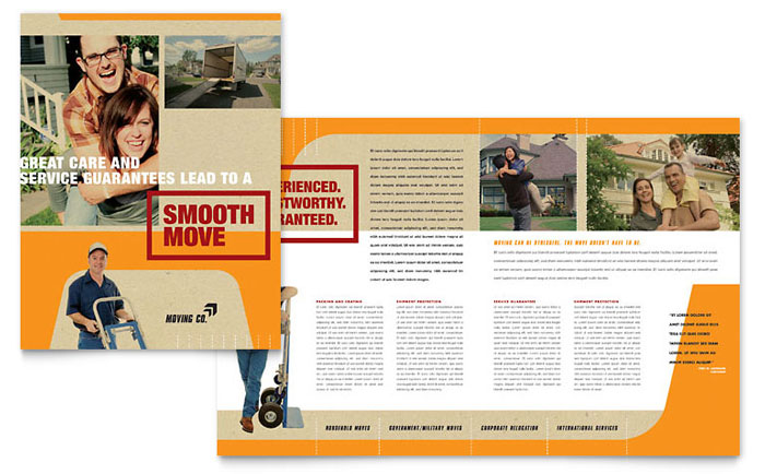 Movers  Moving Company Brochure Template - Word  Publisher - Company Brochure Templates
