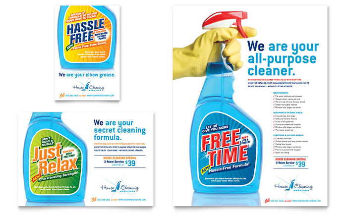 House Cleaning  Housekeeping Flyer  Ad Template - Word  Publisher