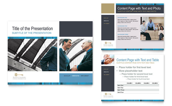 Small Business Consulting PowerPoint Presentation - PowerPoint Template - consulting presentation templates