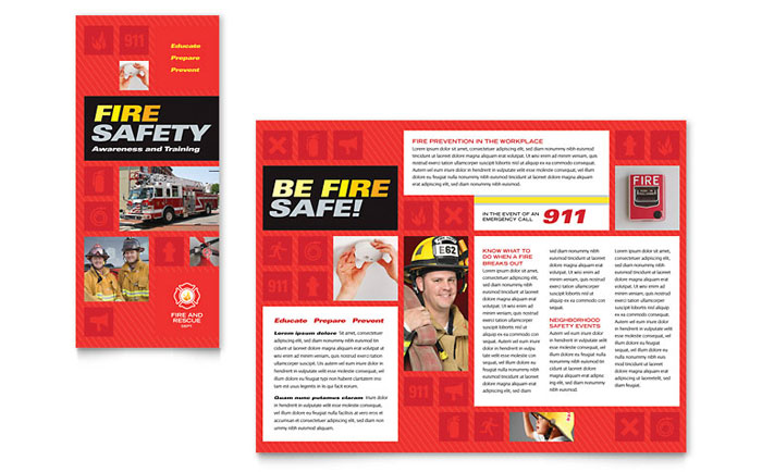 Fire Safety Brochure Template - Word  Publisher - political brochure