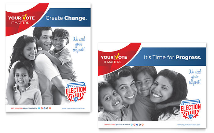 Election Poster Template - Word  Publisher