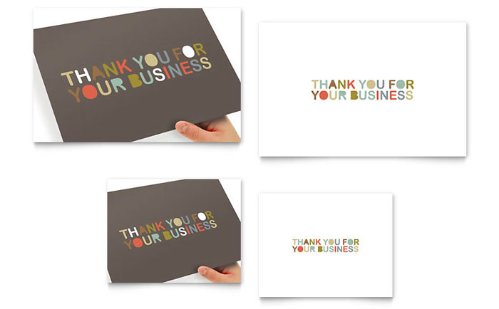 Thank You for Your Business Note Card Template - Word  Publisher