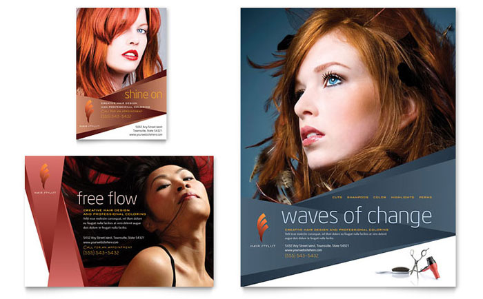 Hair Salon Brochure Templates | All File Resume Sample