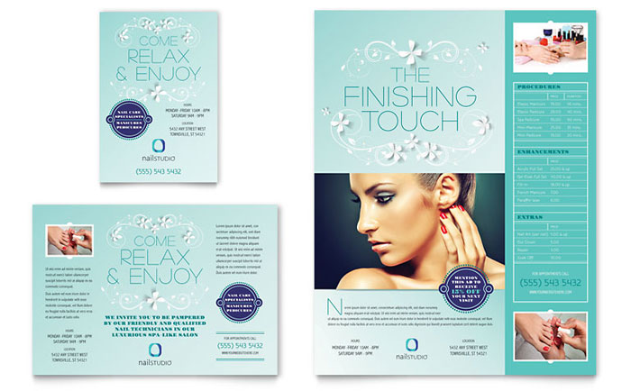Nail Technician Flyer  Ad Template - Word  Publisher