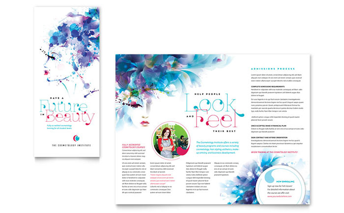 Cosmetology Brochure Template - Word  Publisher
