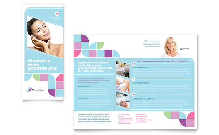 Medical Spa Brochure Template - Word  Publisher