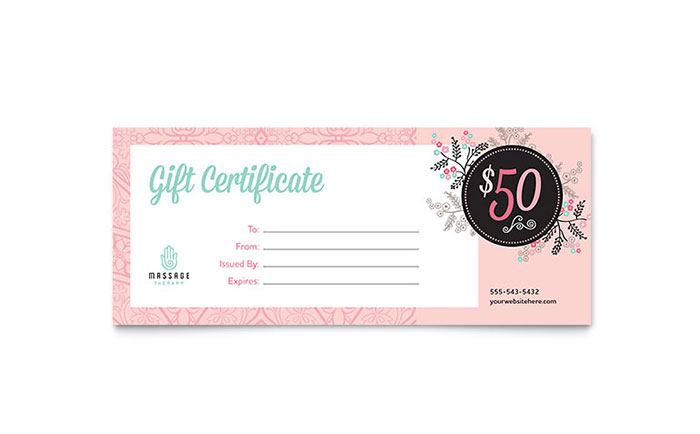 Health  Beauty - Gift Certificate Templates - Word  Publisher