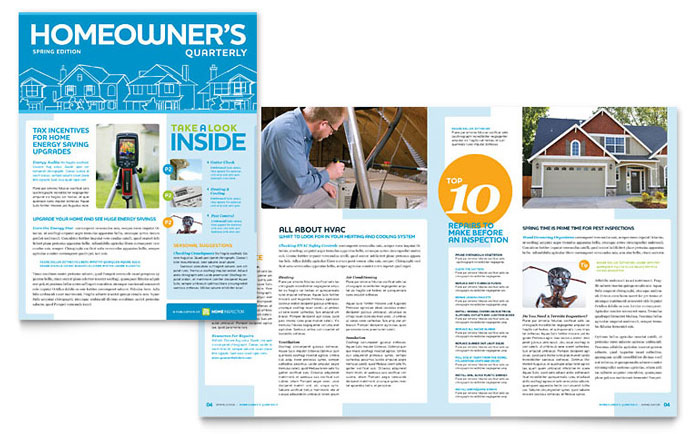 Home Inspection  Inspector Newsletter Template - Word  Publisher - company newsletters examples