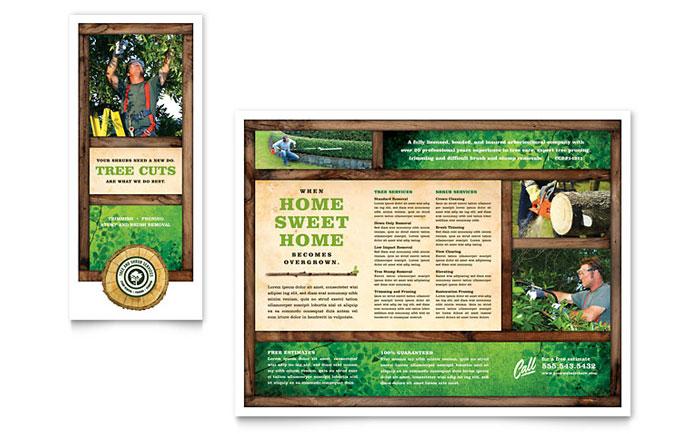 Tree Service Tri Fold Brochure Template - Word \ Publisher - microsoft word tri fold brochure