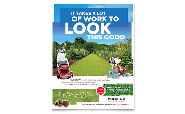 Landscaping Flyer Template - Word  Publisher