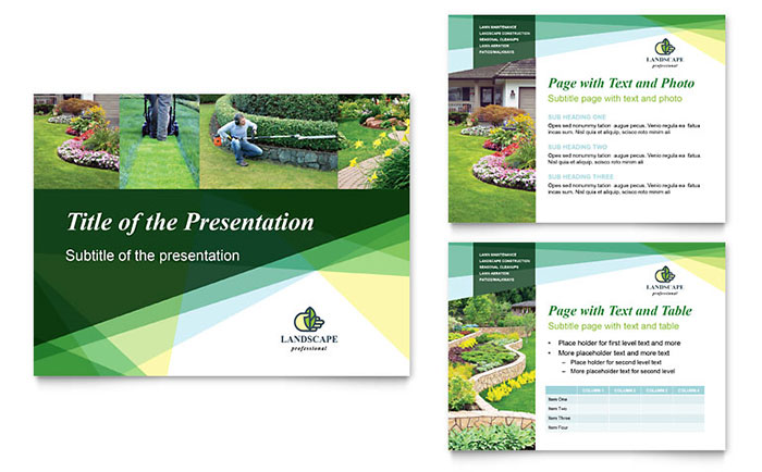 Landscaper PowerPoint Presentation - PowerPoint Template - Powerpoint Presentation