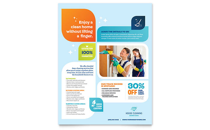 Cleaning Services Flyer Template - Word  Publisher - flyer template