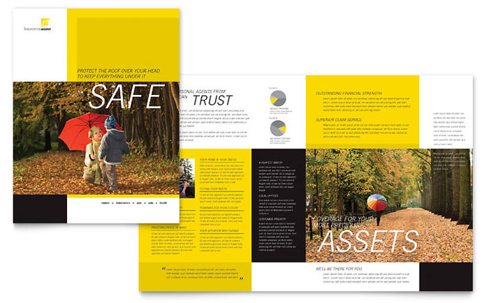 Insurance Agent Brochure Template - Word  Publisher