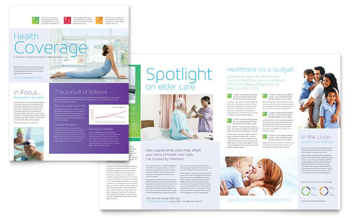 Medical Insurance Newsletter Template - Word  Publisher