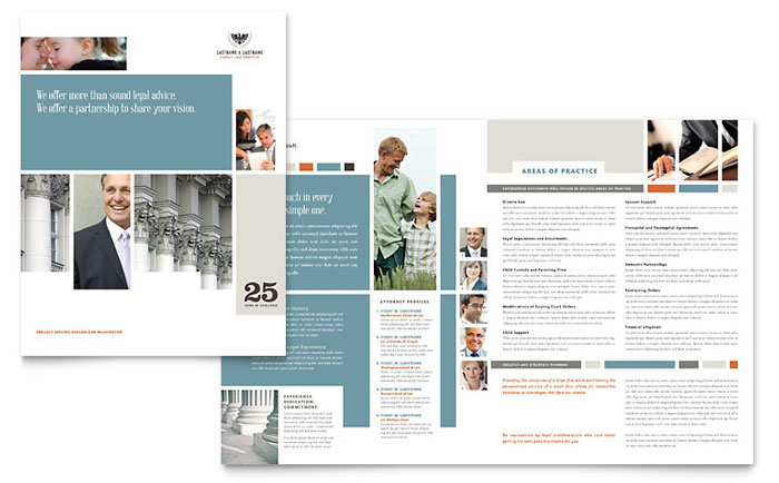 Family Law Attorneys Brochure Template - Word \ Publisher - brochure template word