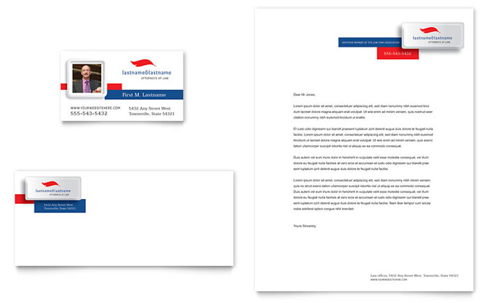 Justice Legal Services Business Card  Letterhead Template - Word