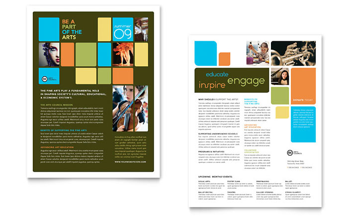 Arts Council  Education Datasheet Template - Word  Publisher