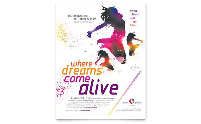Dance Studio Flyer Template - Word  Publisher