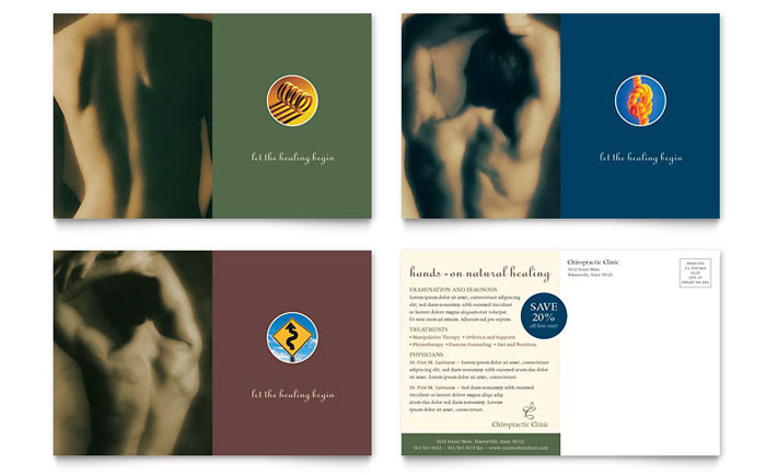 Chiropractor Postcard Template - Word  Publisher