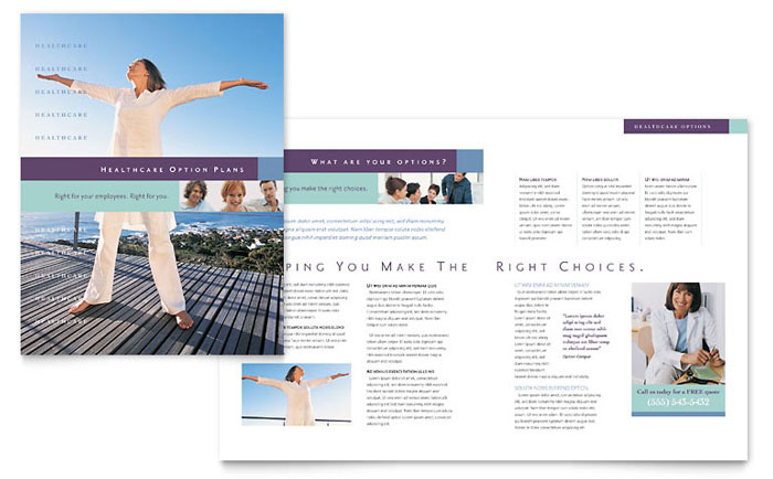 Medical Insurance Company Brochure Template - Word  Publisher