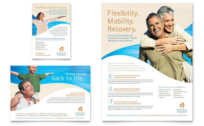 Physical Therapist Flyer  Ad Template - Word  Publisher