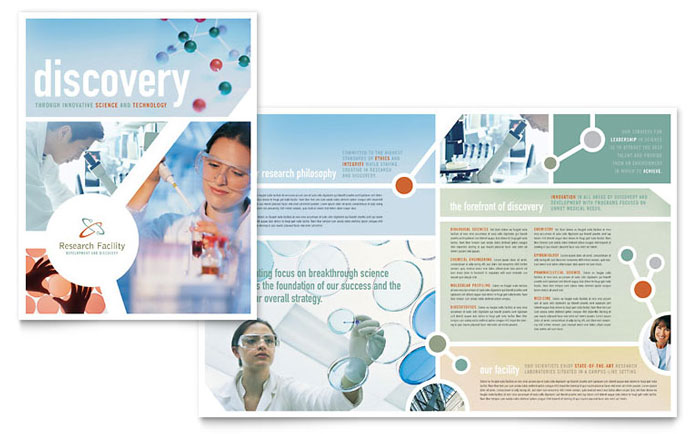 Medical Research Brochure Template - Word  Publisher - Medical Newsletter Templates Free