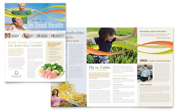 Health Insurance Company Newsletter Template - Word  Publisher - company newsletters examples