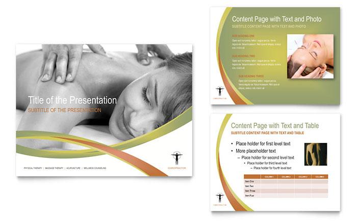 Massage  Chiropractic PowerPoint Presentation - PowerPoint Template
