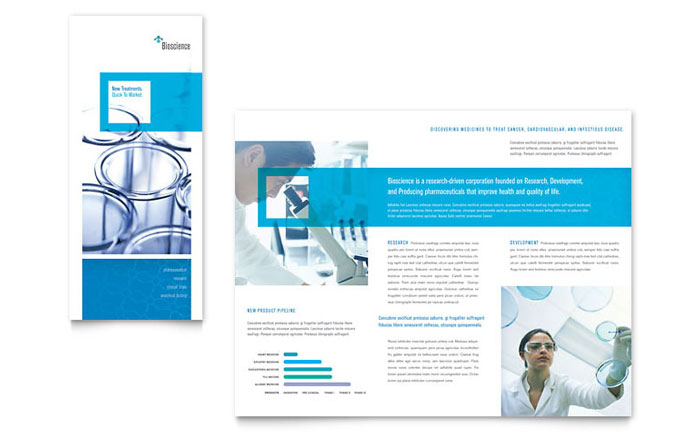 Science  Chemistry Tri Fold Brochure Template - Word  Publisher