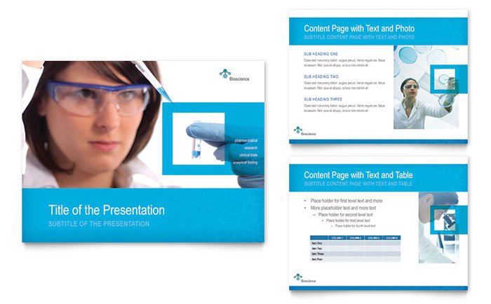 Science  Chemistry PowerPoint Presentation - PowerPoint Template
