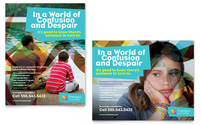Adolescent Counseling Poster Template - Word  Publisher