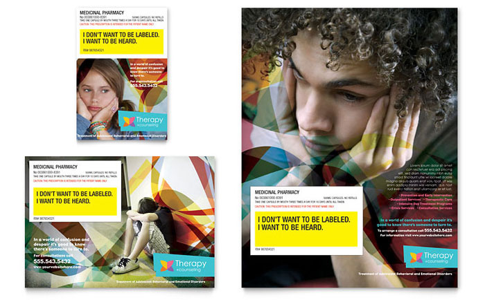 Adolescent Counseling Tri Fold Brochure Template - Word  Publisher
