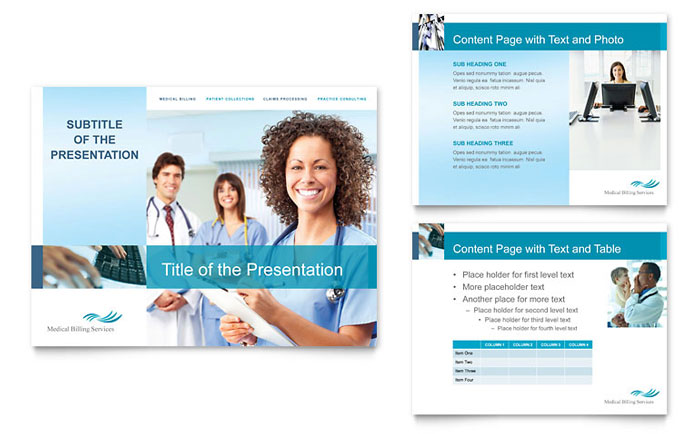 Medical Billing  Coding PowerPoint Presentation - PowerPoint Template