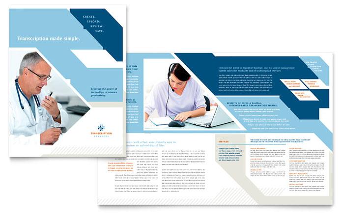 Medical Transcription Brochure Template - Word  Publisher