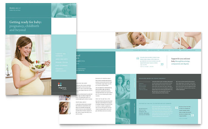 Pregnancy Clinic Brochure Template - Word  Publisher