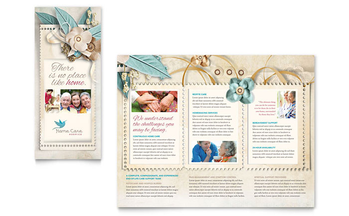 Hospice  Home Care Tri Fold Brochure Template - Word  Publisher