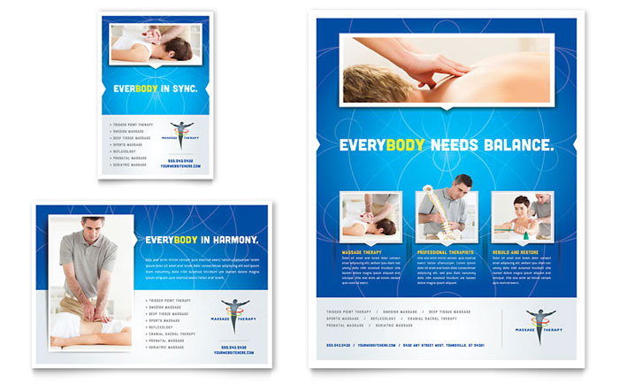 Reflexology  Massage Flyer  Ad Template - Word  Publisher