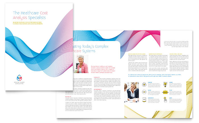Insurance Consulting Brochure Template - Word  Publisher