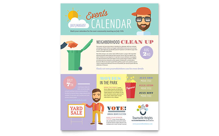Homeowners Association Flyer Template - Word  Publisher