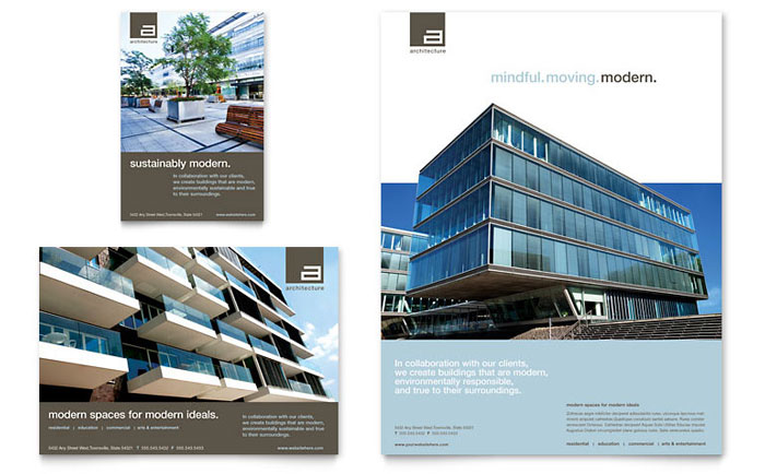 Presentation Templates Product Images ~ Vertex - Minimal - sample real estate brochure