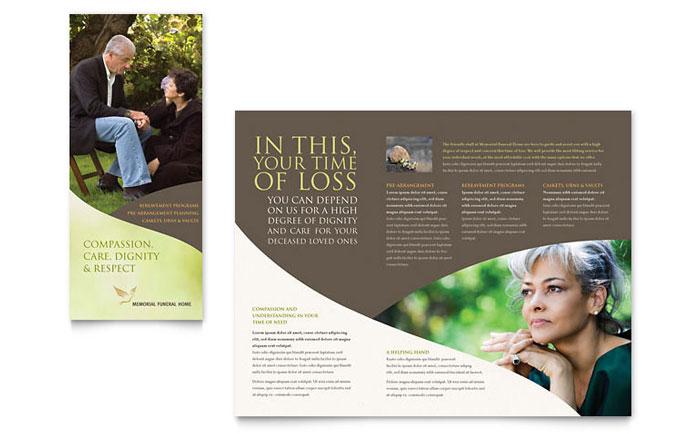Memorial  Funeral Program Brochure Template - Word  Publisher - memorial powerpoint templates free