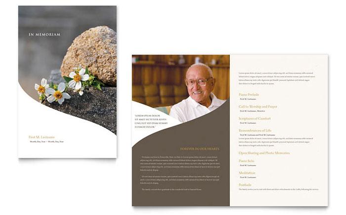 Memorial & Funeral Program Brochure Template - Word & Publisher