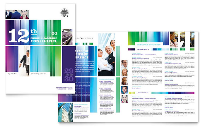 Business Leadership Conference Brochure Template - Word  Publisher